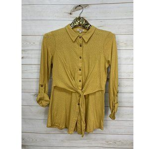 Size Small Gilli Tie-Front Long-Sleeves